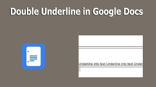 In this video, i will show you, how to create double underline google docs document. ** premium service **http://bit.ly/2tifh5lhttp://bit.ly/2najty9http:...
