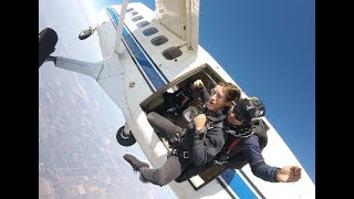First time skydiving, in Lodi, CA