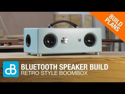 Retro Style Bluetooth Boombox Speaker Build - by SoundBlab