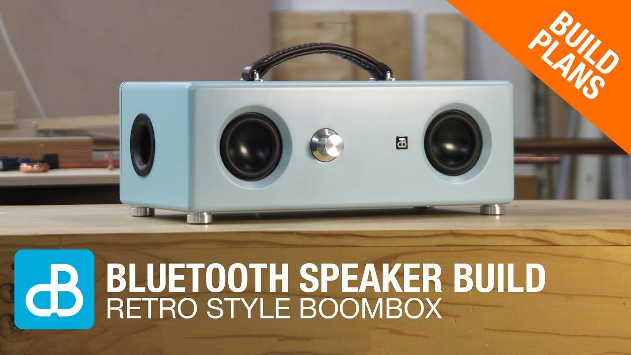 Retro Style Bluetooth Boombox Speaker Build By Soundblab