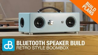 Retro Style Bluetooth Boombox Speaker Build - by SoundBlab