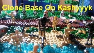 HUGE LEGO Star Wars The Clone Wars Underground Clone Base On Kashyyyk MOC