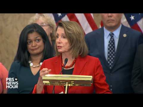 WATCH: Rep. Pelosi, Democrats address DACA at news briefing