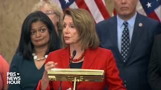 WATCH: Rep. Pelosi, Democrats address DACA at news briefing