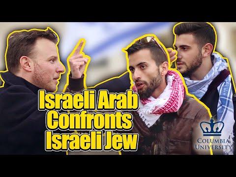 Israeli Arab Confronts Israeli Jew At Columbia University