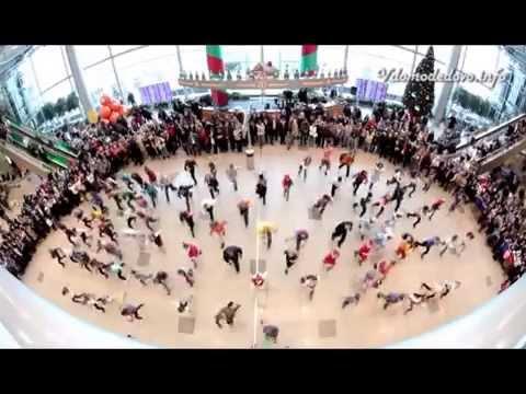 Новогодний флешмоб в аэропорту Домодедово