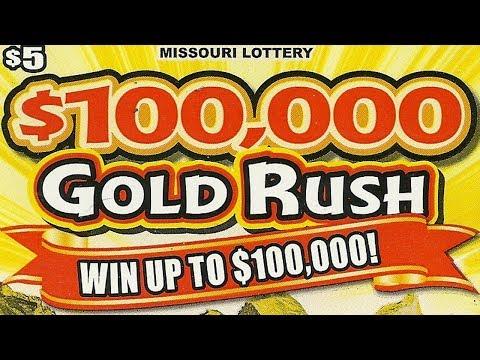 "FULL PACK - ""$100,000 GOLD RUSH"" - FULL BOOK MISSOURI LOTTERY SCRATCHERS!"