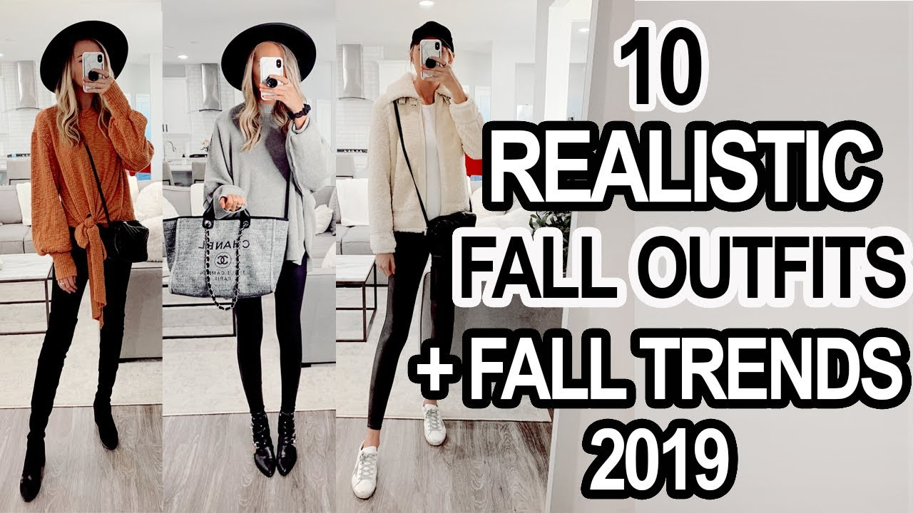 [VIDEO] - 10 REALISTIC FALL OUTFITS + Fall Trends 2019! 3
