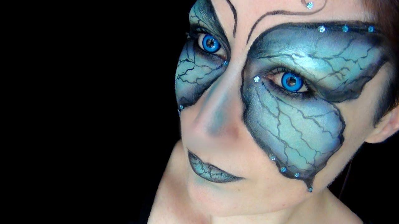 butterfly fairy makeup tutorial halloween 2013 lentilles de couleur youtube - Fairy Halloween Makeup Ideas
