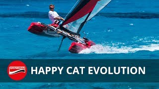 Inflatable Catamaran HAPPY CAT EVOLUTION - prototype test Aegean Sea