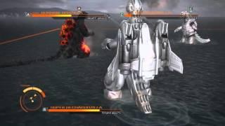 Godzilla (PS4) Online VS: Super Mechagodzilla vs. Burning Godzilla vs. Mechagodzilla