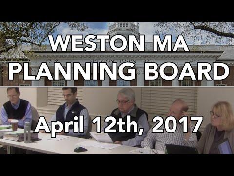 Weston MA Planning Board 4/12/2017