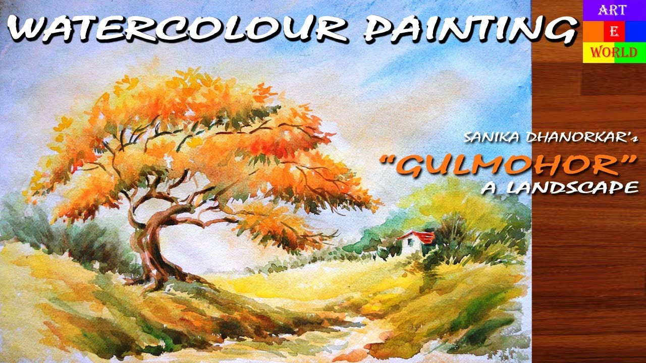 1: Watercolour Landscape Painting-1 | Tutorial Lessons ...