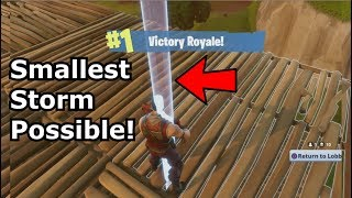 Fortnite Smallest Storm Eye Possible solo Win! PS4