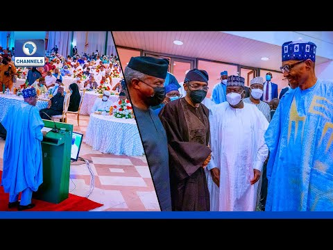 Download {FULL VIDEO} Buhari Holds Dinner With National Assembly