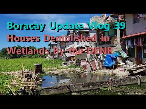 Boracay Update Vlog 39 Houses Demolished in Wetlands By the DENR