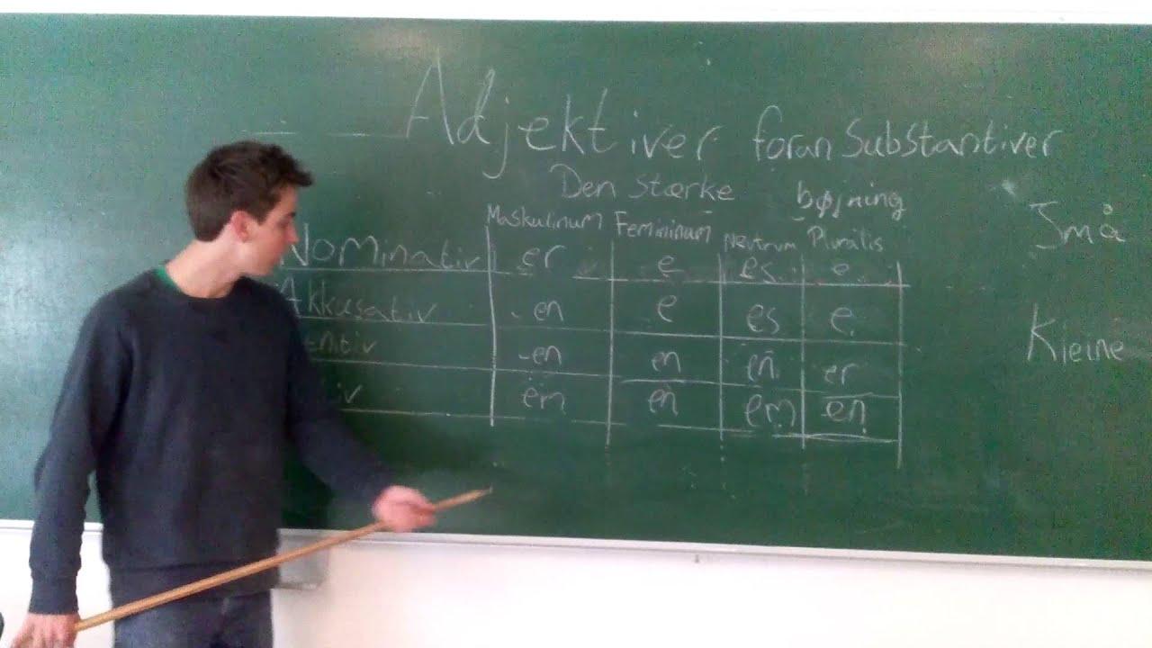 Tyske Adjektiver