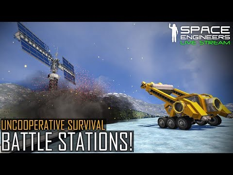 Space Engineers: BATTLE STATIONS! - Uncooperative Survival #6 (Planetary PvE & MOD Madness)