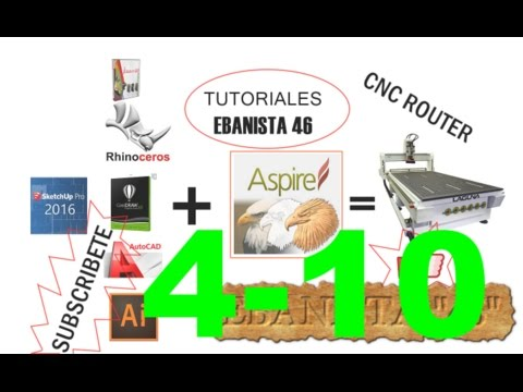 CNC ROUTER TUTORIALES EN ESPAÑOL (ASPIRE 8.5)