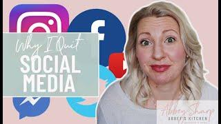 Why I QUIT Social Media | Technology