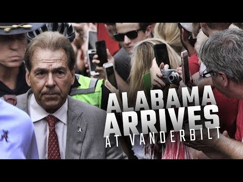 Watch Alabama arrive at Vanderbilt Stadium for their SEC opener vs the Commodores
