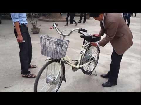Video chế xe đạp thường thành xe đạp điện 0976448449