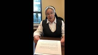 11.17.20 Daily Message from Sister Mary Cecile