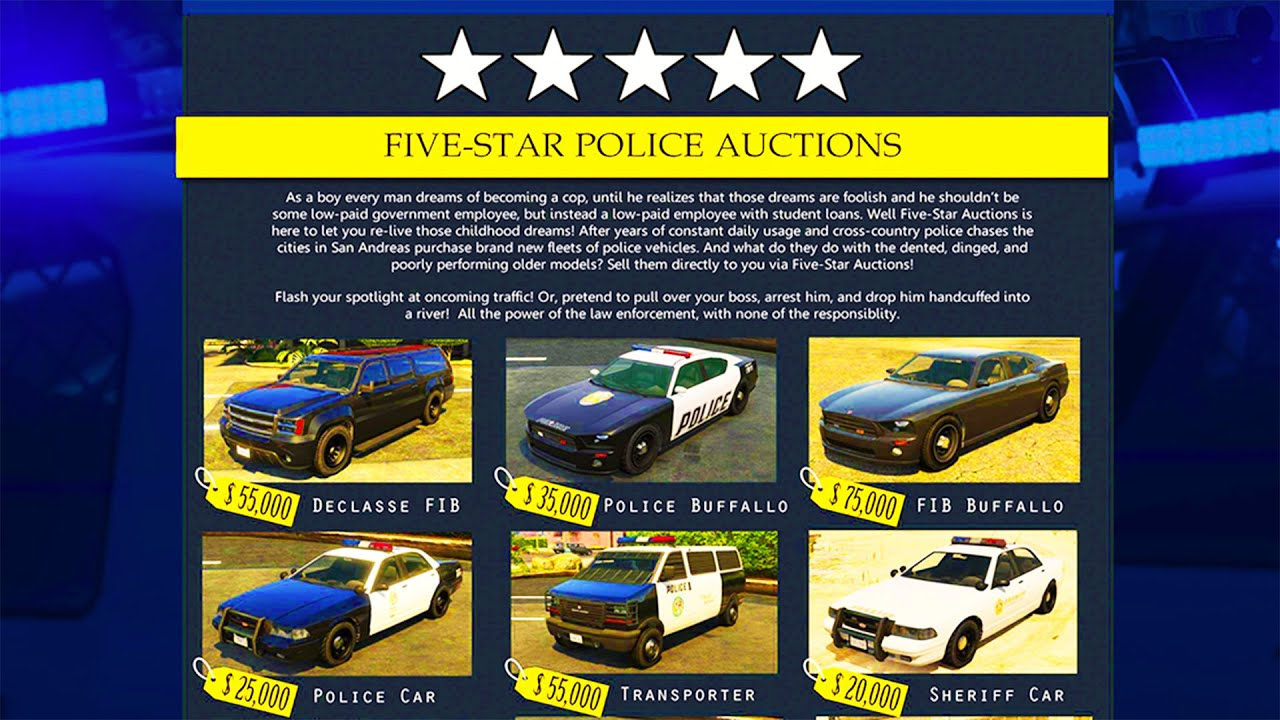 Gta 5 online update buying police cars new super vehicles gta 5 online dlc update concept youtube