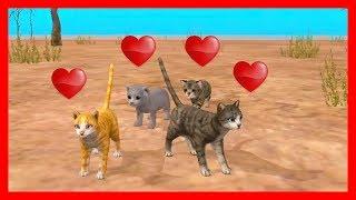 СИМУЛЯТОР КОТЕНКА #30 ЧАЙКИ кошка ИГРАЕТ с КОТЯТЯМИ ДЕТСКИЕ ИГРЫ