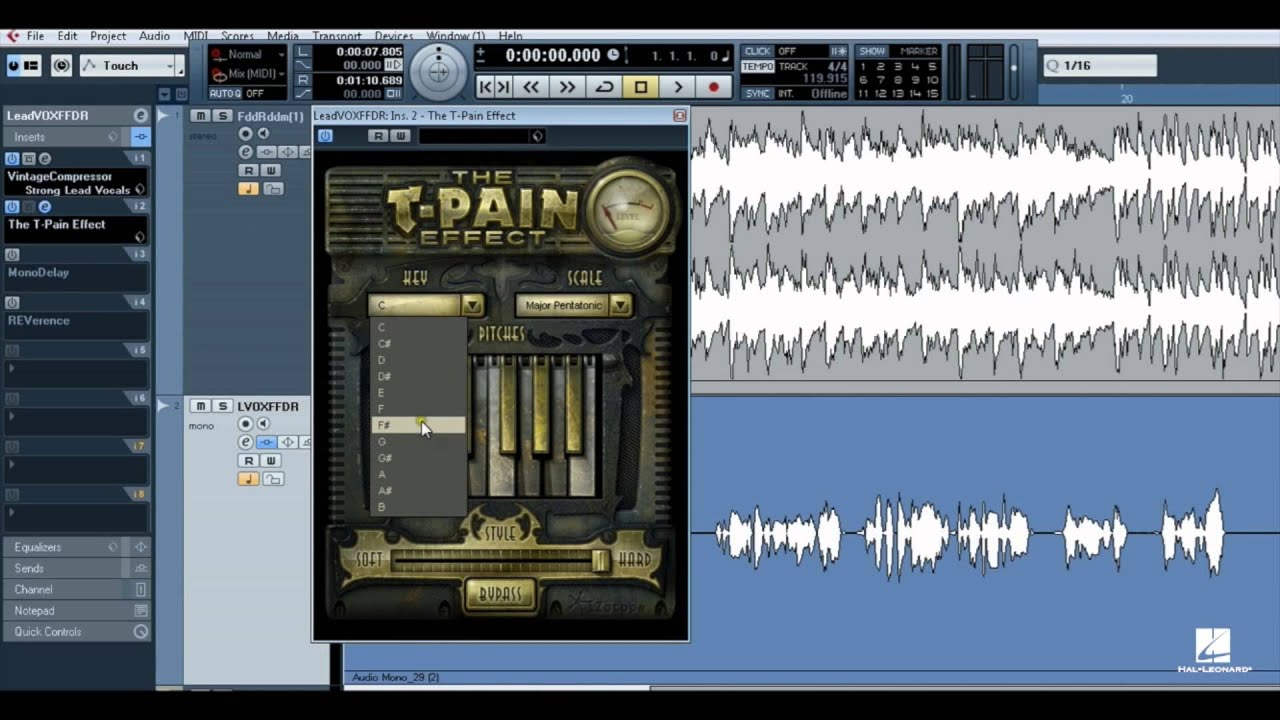 Pitch Correction Software: Using the T-Pain Effect