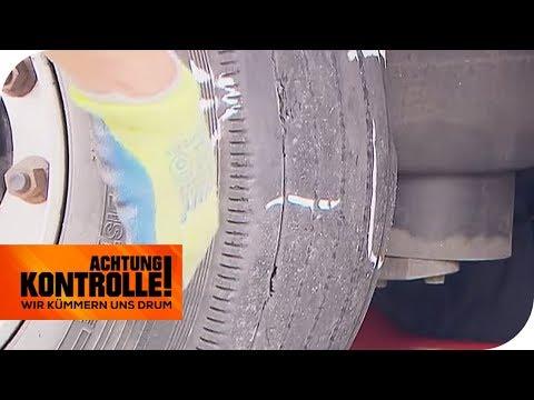 LKW Reifen mit Beule - Was ist passiert? | Achtung Kontrolle | kabel eins