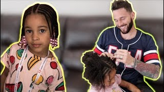 In today's video I do Cali's hair again, then we go out as a family...