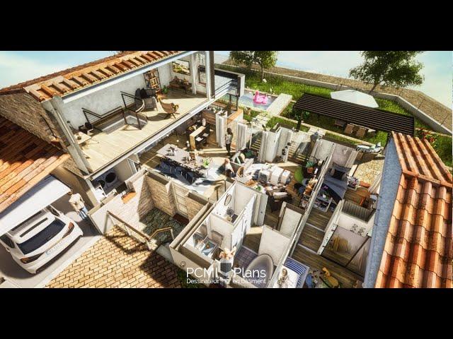 Visite virtuelle d'une maison de 130m² en 3D
