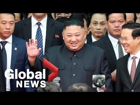 Kim Jong Un arrives at Vietnamese border for summit with Donald Trump