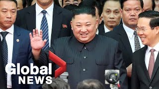 Download Video Kim Jong Un arrives at Vietnamese border for summit with Donald Trump MP3 3GP MP4