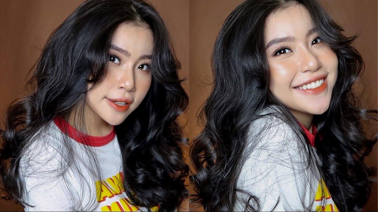 CÁCH UỐN TÓC TẠI NHÀ + DƯỠNG TÓC DÀY VÀ DÀI | HOW I CURL MY HAIR + HAIR CARE ROUTINE | Quỳnh Thi |