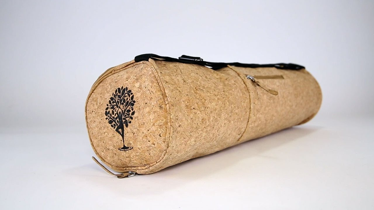 a20bc91417f3 The Best Yoga Mat Bag - Handmade with Cork - YouTube