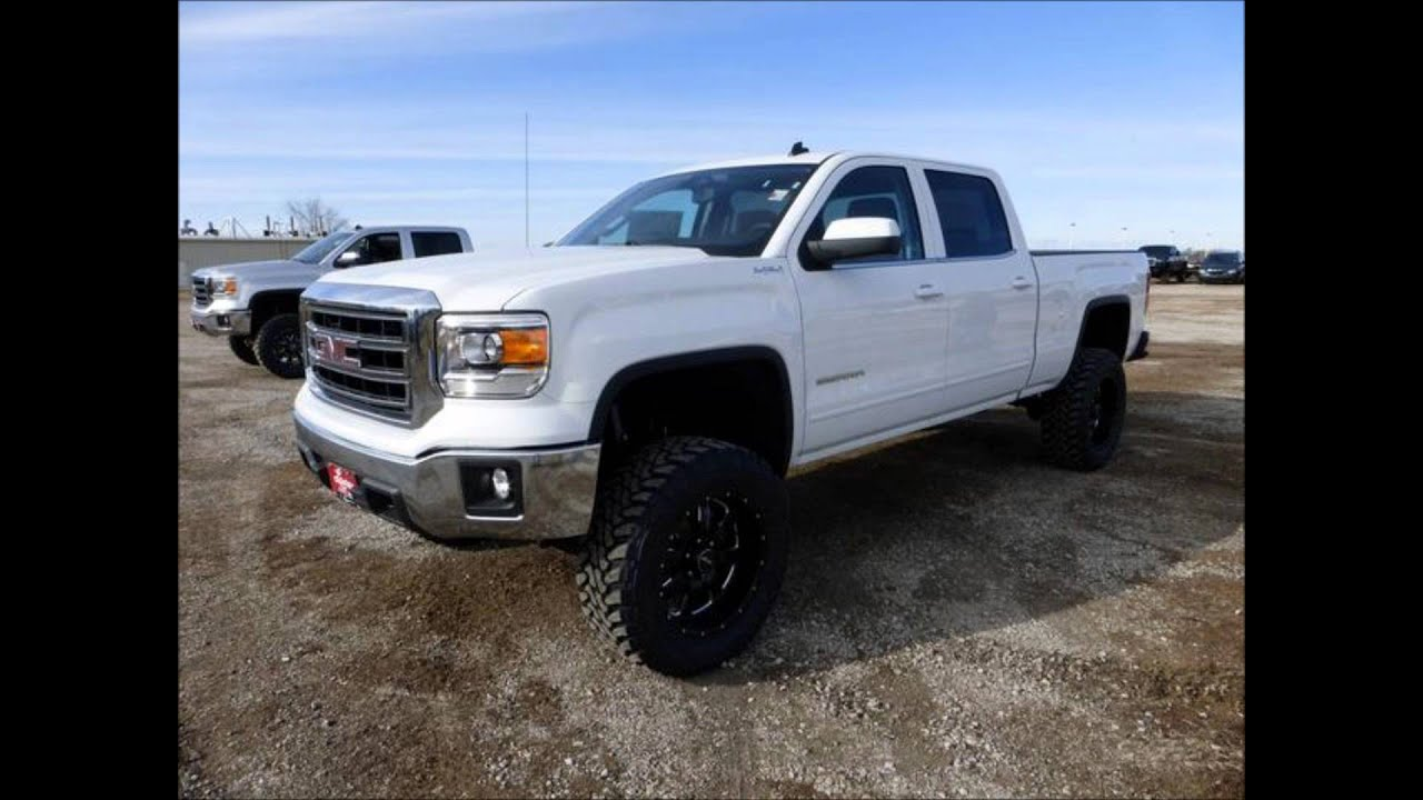2014 Lifted GMC Sierra 1500 Crew Cab Standard Box 4WD SLE ...