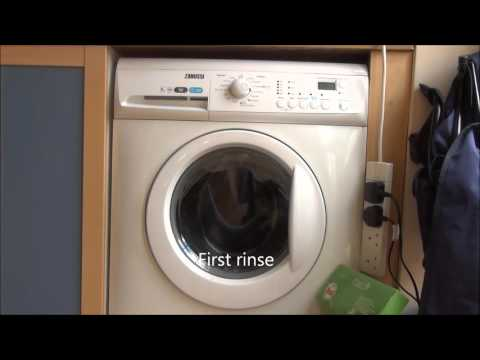 Zanussi Aquafall ZWHB7160 washing machine : Synthetics 30'c (complete cycle)