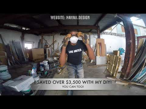 DIY Pallet Wood Accent Wall FREE!  Part 1 of 2 HI Design Barber and Beauty