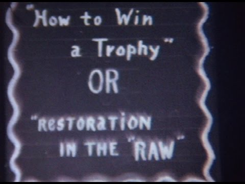 """Silent 16mm film Antique Car """"Restoration in the RAW"""" Old Comedy footage"""