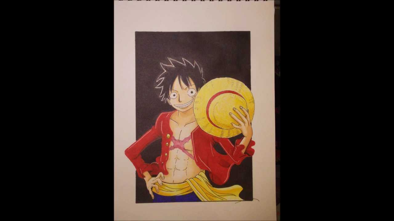 One piece drawing monkey d luffy 2 years after dessin de luffy 2 ans plus tard youtube - One piece 2 ans plus tard luffy ...