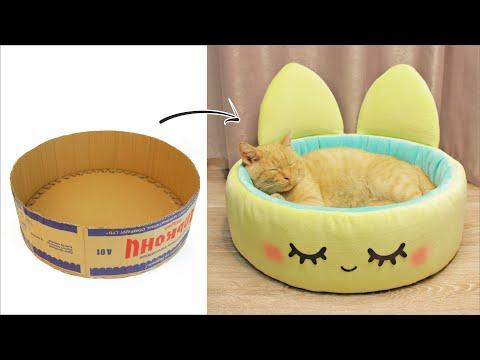 Как кошке сделать кошке домик своими руками в домашних условиях