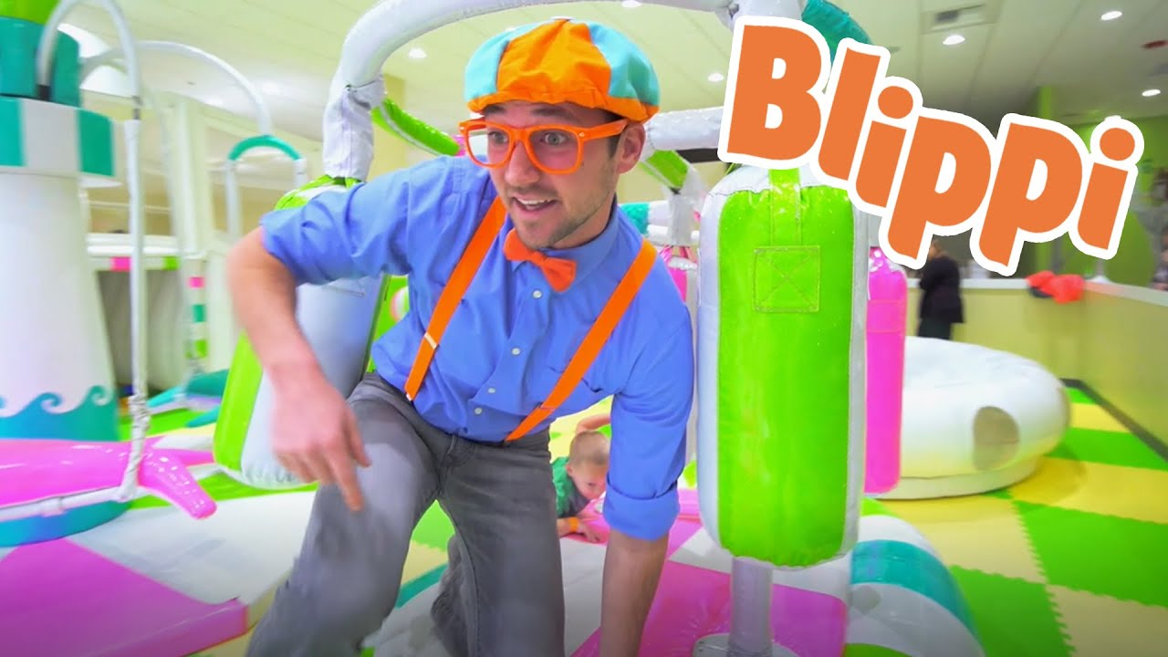 Learning With Blippi At An Indoor Play Place For Kids | Learning For Kids