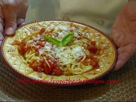 angel hair pasta with lemon  garlic and tomatoes
