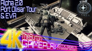 Star Citizen 4K Gameplay | Port Olisar Tour and Deep Space EVA | Maxed Out GTX 980 Ti