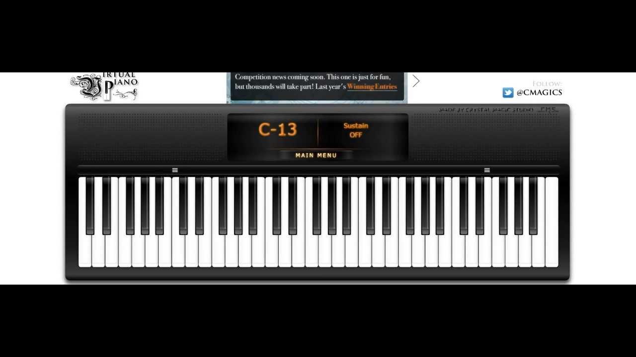 Virtual Piano Minecraft Songs Youtube