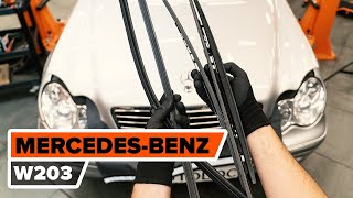 Como substituir escovas do limpa vidros MERCEDES-BENZ W203 C-Class [TUTORIAL AUTODOC]