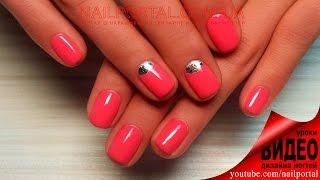 Дизайн ногтей гель-лак shellac - Лунный маникюр + фольга (видео уроки дизайна ногтей)