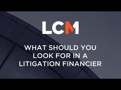 What Should You look For In A Litigation Financier